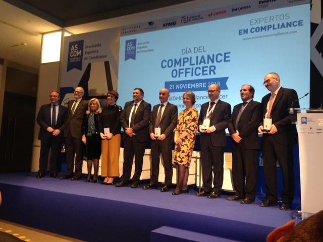 Galardonados este año en la II edición del Día del Compliance Officer.
